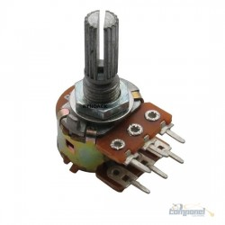 Potenciômetro Linear Duplo 1kb L20 6terminais
